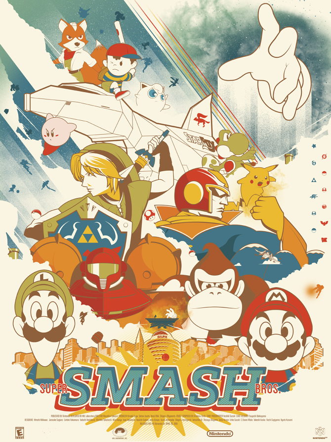 Super Smash Bros Marinko Milosevski Illustration And Design