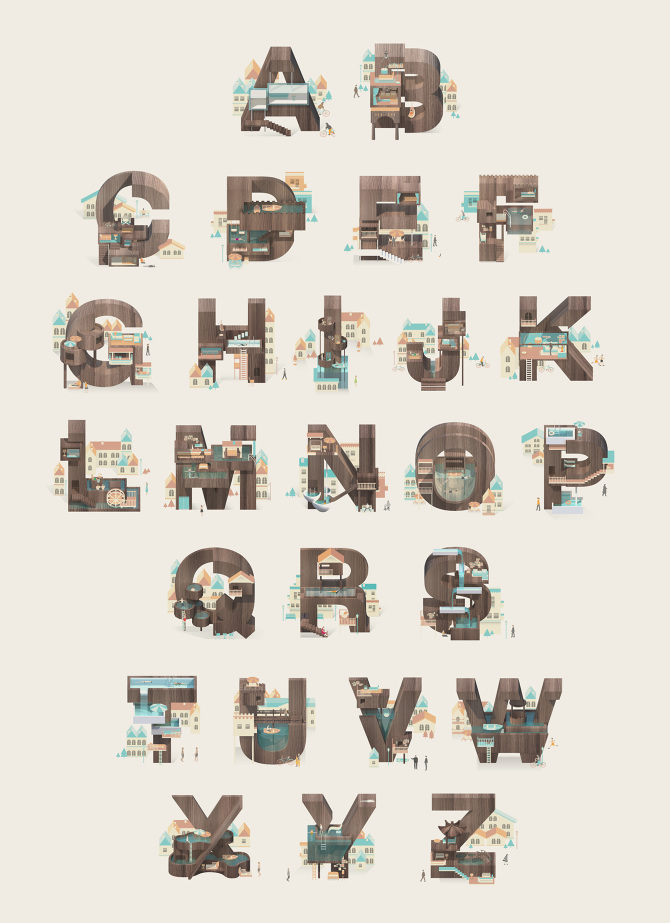 alphabet - resort letters  prints available
